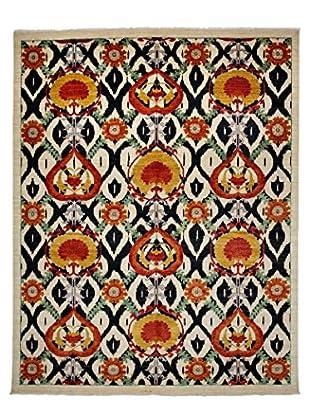 Darya Rugs Suzani Oriental Rug, Black/White, 9' 2