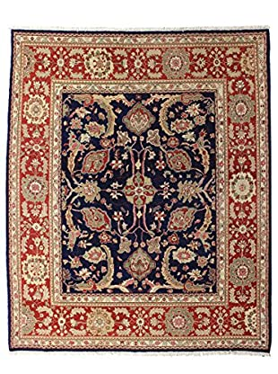 Bashian Rugs Hand Knotted One-of-a-Kind Sino-Oushak Rug, Dark Blue, 8' x 10'