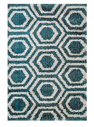 Loloi Rugs Barcelona Shag Rug (Blue/Light Grey)