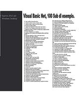 Visual Basic Net, 100 Sub di esempio (Italian Edition)