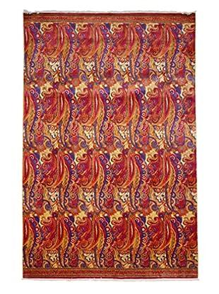 Darya Rugs Suzani Oriental Rug, Red, 6' 1