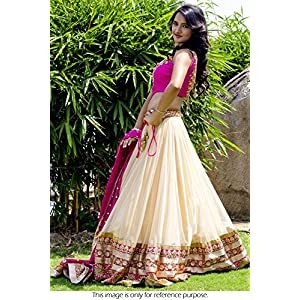 Bollywood Replica Model Net Lehenga In Cream and Pink Colour NC740
