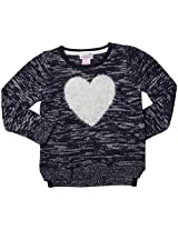 Design History Eyelash Heart Top (Toddler/Kid)-True Blue-5