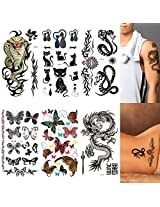 6-pack Mix Animal Temporary Tattoos Set