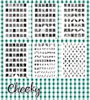 New Bundle of 6 Nail Art Jumbo Image Plates Stamps (X1) 331 Designs by Cheeky