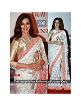 Bollywood Replica Sonali Bendre Net Saree In Off White Colour Nc539