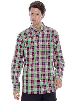 Caramelo Camisa Cuadros (morado)