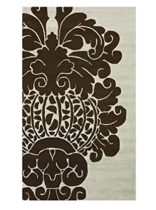 nuLOOM Damask (Brown/Ivory)