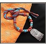 Elephant Pendant Thread Necklace - Multi color