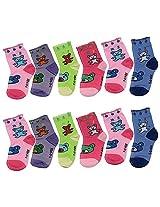 Ishaya Stores Baby Boy's Quarter Length Socks(12 Pair Socks)