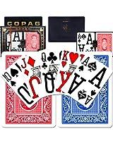 Copag Poker Size Magnum Index - Blue*Red Setup
