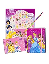 Disney Princess Diary With Stickers And Pencil Boxed Set ~ Cinderella, Snow White, Belle, And More!