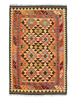 eCarpet Gallery One-of-a-Kind Kashkoli Kilim Rug, Brown/Orange, 3' 2