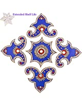 Diwali Gifts - Decorative Acrylic Rangoli 1506 with kaju katli