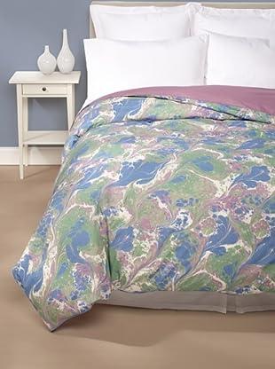 Edmond Frette Grotta Print Duvet Cover (Blue/Green)