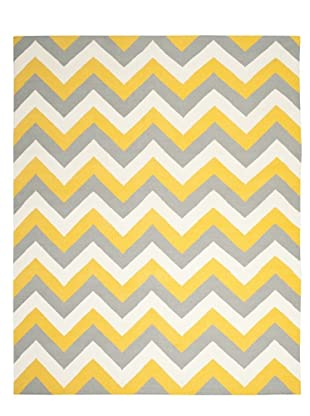 Safavieh Dhurrie Rug (Gold/Grey)