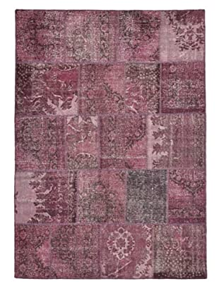 Tottenham Court Patchwork Hand Knotted Rug, Fuchsia, 8' x 10'