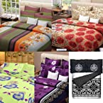 Bed Linen: Tyche Ankara collection of 100% Cotton Double Bed Bedsheet - Pack of 5