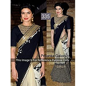 Lady Bazar Priyanka Chopra Saree - Black