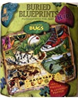 Backyard Bugs | Buried Blueprints Puzzles From the Past (Kids) [165pc. Puzzle & Coloring Poster]