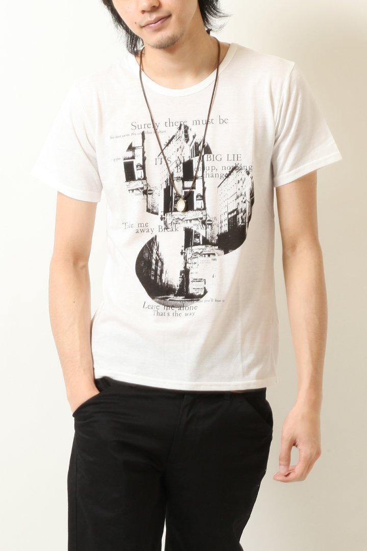 (ドリフトレイジ) Drift Rage Uネック 半袖 プリントTシャツ