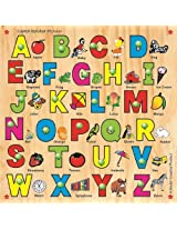 Kinder Creative KCL 03 Capital Alphabet with Knobs, Multi Colour