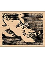 "Penny Black Mounted Rubber Stamp 3.25""X4"" Blanket Of Snow"