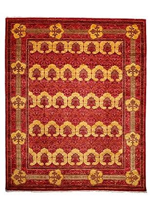Darya Rugs Modern Oriental Rug, Red, 8' 1