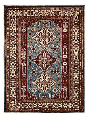 Darya Rugs Shirvan Oriental Rug, Light Blue, 5' x 6' 7