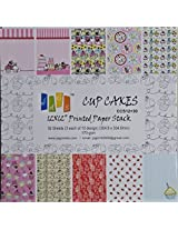 "Scrapbook and Craft Paper Pack - Cupcakes (Size 12"" by 12"") 10 Designs 30 Sheets For Card & Scrapbooking"