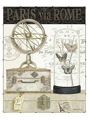 "Kathryn White Paris Via Rome Hand-Embellished Canvas, 30"" x 40"""