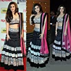 Alia Bhatt Black Pink Bollywood Replica Lehenga in high quality By Lime Fashion