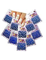 Nail Art 3D Stickers Decals Gold & Delicate Bridal White Flowers and Butterflies ♥ Set of 10