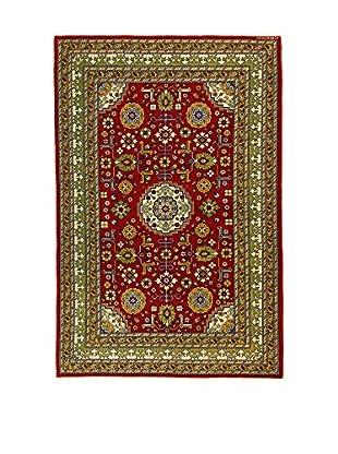 L'Eden del Tappeto Teppich Azerbaijan rot/grün 203t x t131 cm