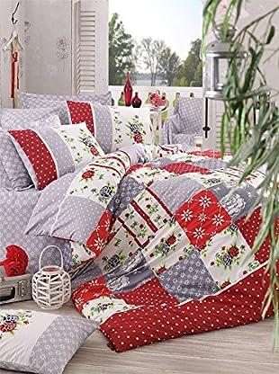 Colors Couture Bettdecke und Kissenbezug Patchwork
