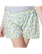 Clovia Women's Shorts (NS0353P25_White_X-Large)