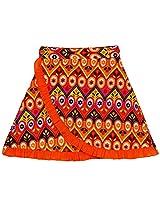 Oye Girls Wrap Skirt - Orange (1-2 Y)