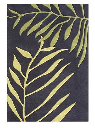 Alliyah Rugs New Zealand Wool Rug (Black/Green Multi)