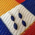 92.5 sterling silver blue earrings