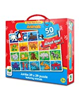 The Learning Journey Jumbo Floor Puzzles Animals, Multi Color