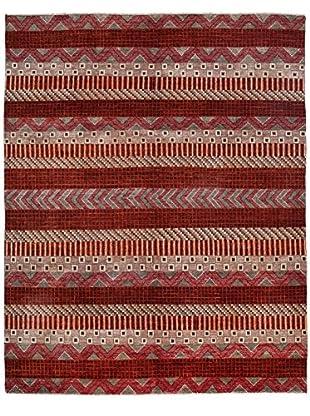 Darya Rugs Modern Oriental Rug, Red, 8' 2
