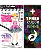 Glitz & Glamour Sketch Mini-Portfolio: Fashion Angels Find Your Wings Series + 1 FREE Mini-Tapeffiti Bundle [114778]