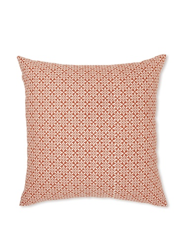 Handmade Interiors Nila Hand Screen Pillow Cover, Indian Rust