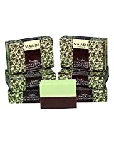 Vaadi Herbals Super Value Tempting Chocolate and Mint Soap, Deep Moisturising Therapy, 75gms x 6