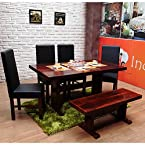 INDUSCRAFT TABLE BENCH CONTEMPORARY WOODEN DINING SET