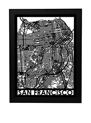 Cut Maps San Francisco Framed 3-D Street Map
