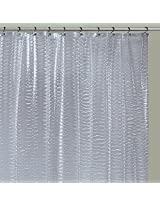 Ex-Cell Waves PEVA Shower Curtain, 70 by 72-Inch, Clear
