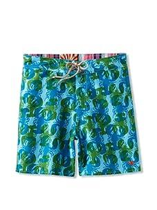 Ted Baker Men's Popcam Swim Trunk (Bright Blue)