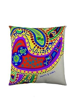 Devota & Lomba Funda Cojín Amebas (Multicolor)