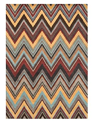 Mili Designs NYC Colorful Zig Zag Rug, 5' x 8'